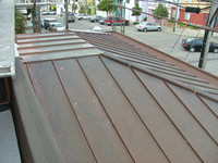 copper clad roof detail